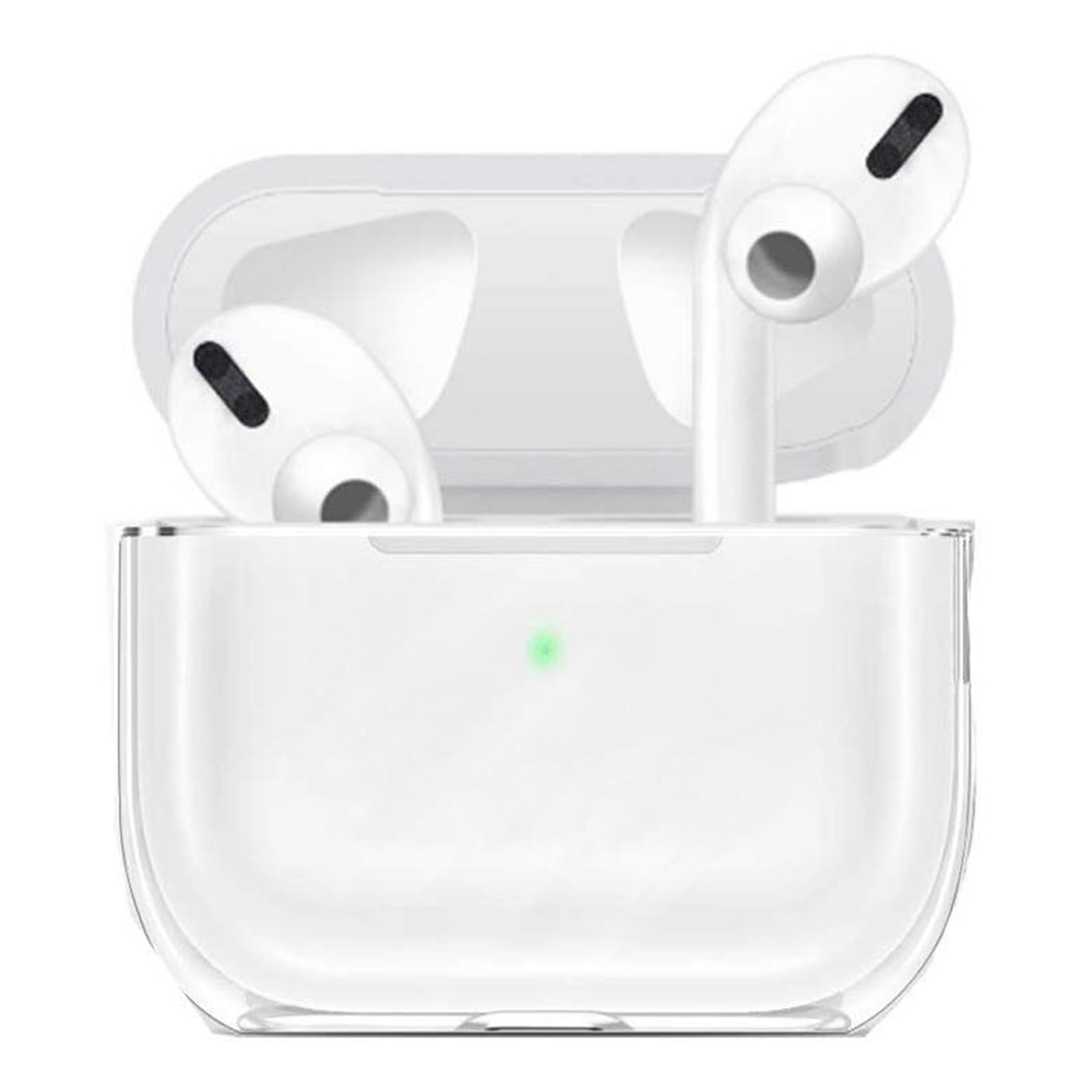 Red Shield Compatible For Apple Airpod Pro Case Cover Clear Hard Case Bluetooth Headset Earphone Protection Ultra Clear