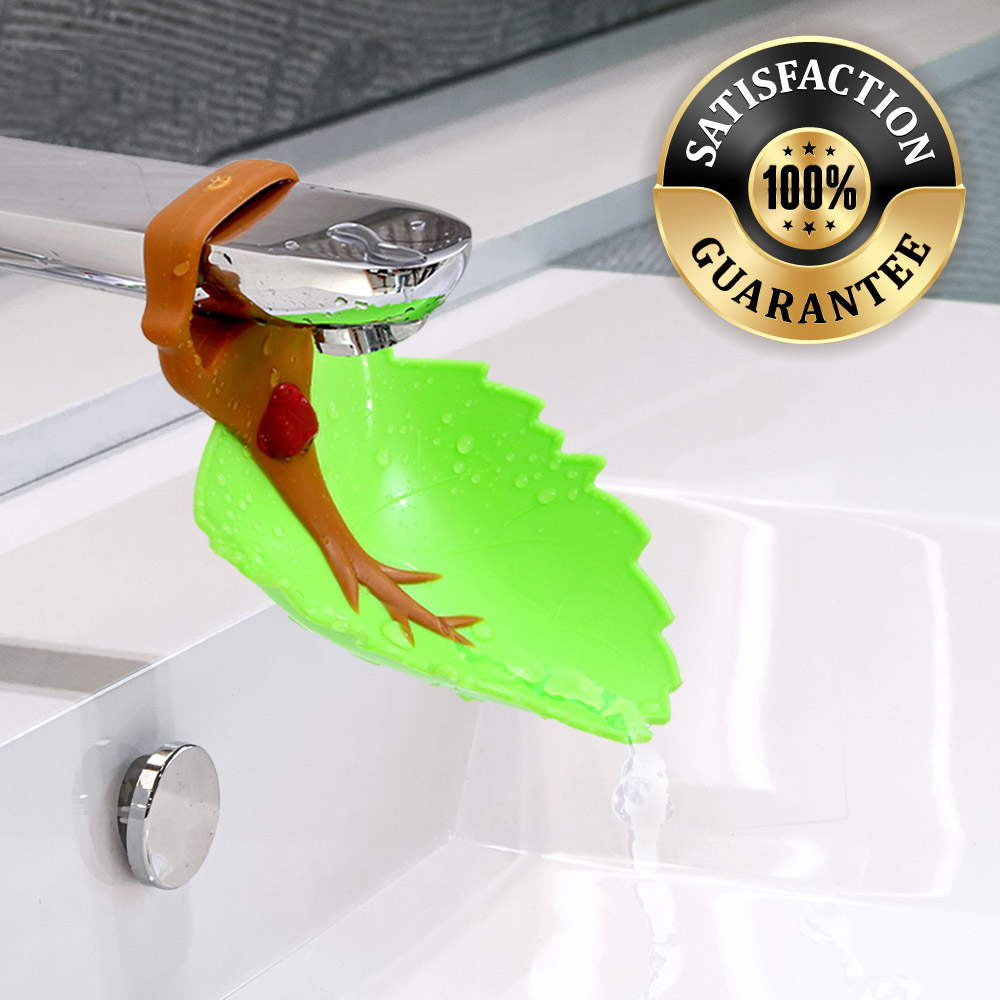 Faucet Extender Green Leaf Water Faucet Tap Extender For Kids Makes Washing Hands Easy Fun Accessorygeeks Com