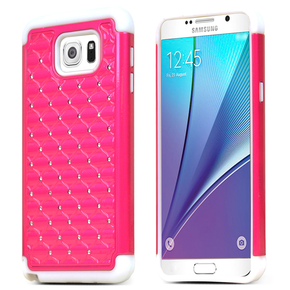 best sneakers db1f5 c7c2c Shop smart with this Hot Pink Hard Case on Silicone Skin for Samsung ...
