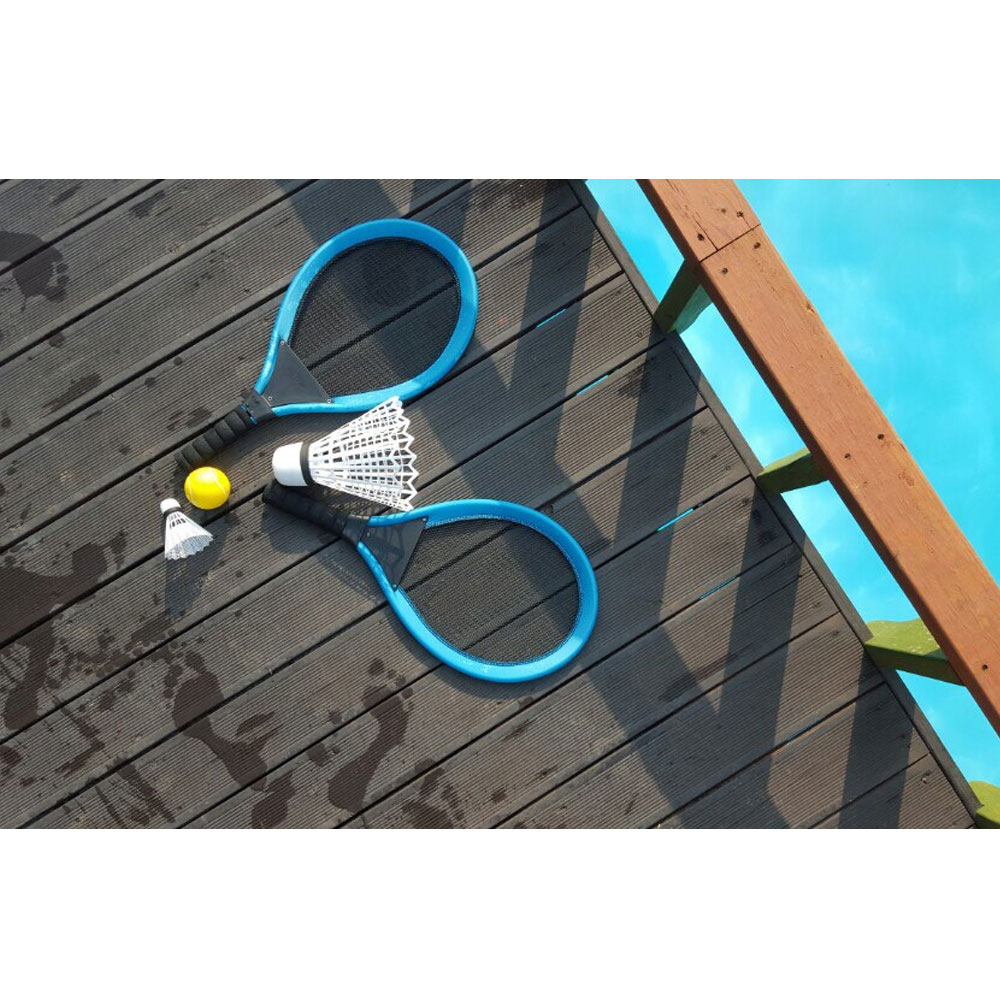 Badminton Racket Pair 2 pcs Raquet Adults Children Kit Game Garden