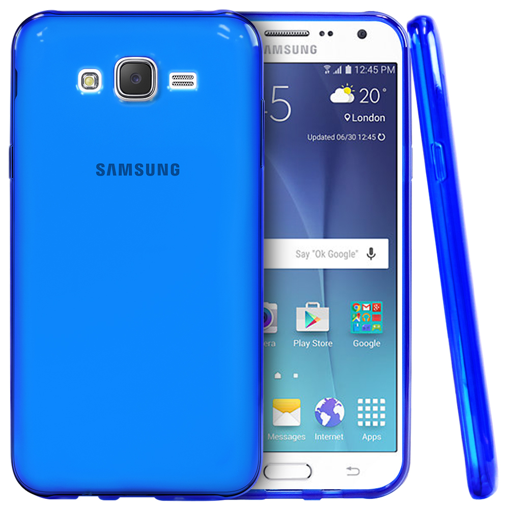 premium selection a19fe 68cca Samsung Galaxy J7 (2015) Case REDShield [Blue] Slim & Flexible Anti-shock  Crystal Silicone Protective TPU Gel Skin Case Cover